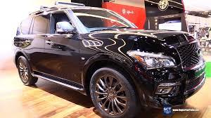 infiniti car qx80 2016 infiniti qx80 limited exterior and interior walkaround