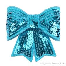 big hair bows 3 inches big sequin bow knot applique 3 large embroideried