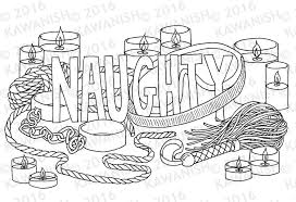 naughty coloring page wall art