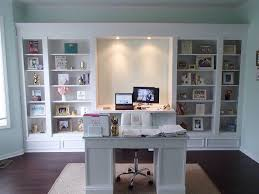 Ikea Desk Hemnes My Diy Office Built Ins We Used 4 Ikea Hemnes Bookcases Love How