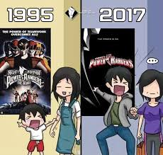 Power Rangers Meme - 1995 vs 2017 powerrangersmovie power rangers movie 2017