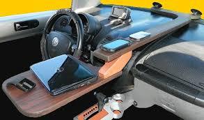 Auto Office Desk Car Desk Truck Connected Mobile Regarding Office Designs 18