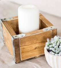 Rustic Wood Home Decor by Small Rustic Wood Crate Box Home Decor U0026 Lighting Hope Farm Co