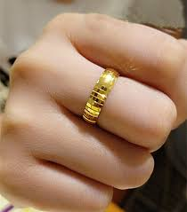 popular cheap gold rings for men buy cheap cheap gold 999 24k yellow gold ring men s band ring 2 92g in rings from