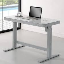 Height Of A Computer Desk Height Adjustable Standing Desks You Ll Wayfair