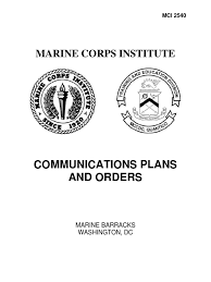 communications plans and orders marine air ground task force