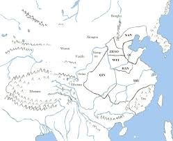 Luoyang China Map by East Asian Barbarians During The Zhou Dynasty 1046 350 Bce