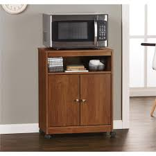 altra furniture landry medium brown microwave cart 5206301pcom