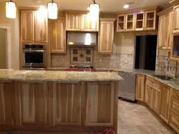 kitchen designs kitchen with hickory cabinets and travertine