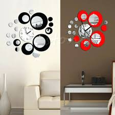 wall clock decal gallery home wall decoration ideas