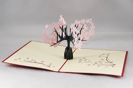 cherry 3d pop up gift greeting 3d blessing cards