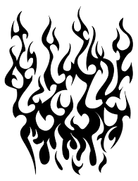 tribal flames sleeve tattoojpg clipart best clipart best