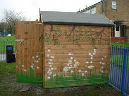 how to make your wooden garden shed blend in to the landscape my