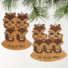 personalized family ornament fox family