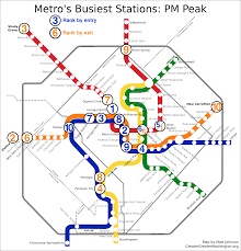 Metro In Dc Map by Which Metro Stations Are Busiest U2013 Greater Greater Washington