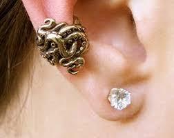 ear cuffs ireland bronze octopus ear cuff octopus earring octopus jewelry