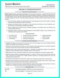 construction superintendent resume can be in simple design but it