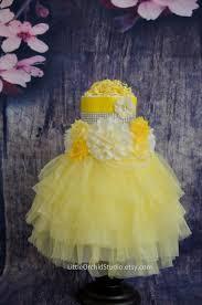 yellow tutu diaper cake sunshine child bathe three tier diaper