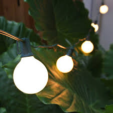 Commercial Patio String Lights by G50 Globe String Lights Set White Satin C7 Patio Lights