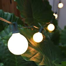 white patio lights g50 globe string lights set white satin c7 patio lights