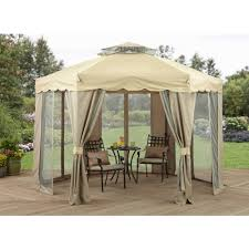 Small Patio Gazebo by Better Homes And Gardens Sawyer Cove 12 U0027 X 10 U0027 Barrel Roof Gazebo