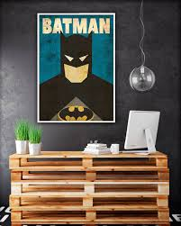 batman home decor batman art minimalist vintage poster superhero poster