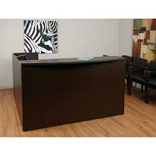 Espresso Reception Desk Napa Reception Station 71x71x42h 2 Pedestal Espresso
