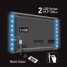 led strip lights menards barkan led multi color usb mood light for tv at menards
