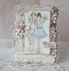 inky angel shabby chic birthday card guest design at fffc