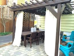 Outdoor Cabana Curtains Outdoor Privacy Curtains Outdoor Curtains For Deck Salmaun Me