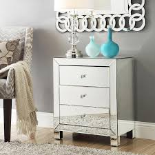 Silver Mirrored Nightstand Mirrored Nightstands Gallery Of Silver Square Simple Glass And