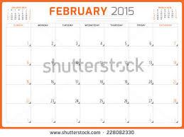 calendar planner 2015 template week starts stock vector 228082354