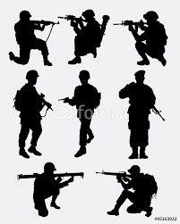 army military training action silhouette good use for symbol logo army military training action silhouette good use for symbol logo web icon mascot game element sticker