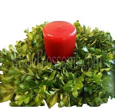 flower candle rings buy wholesale evergreen fresh evergreen candle rings