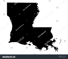 Map Of Louisiana by Map Louisiana Stock Vector 184182908 Shutterstock