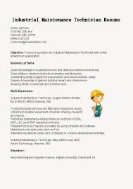 Maintenance Resume Sample by Industrial Maintenance Technician Cover Letter