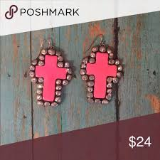 sookie sookie earrings sookie sookie earrings hot pink cross earrings has some