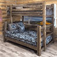 Barnwood Bunk Beds Reclaimed Barn Wood Bunk Beds