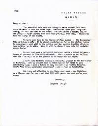 typed letters signed helen keller
