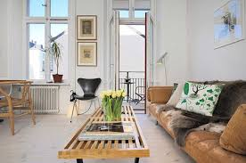 fascinating scandinavian living room furniture with cozy sofa in