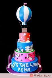 hot air balloon cake topper bat mitzvah hot air balloon cake bat mitzvah cakes