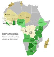 Mali Africa Map by Unified English Braille And Literacy Development In English