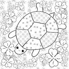 turtle heaven coloring book turtle clover garden