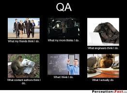 Qa Memes - qa what people think i do what i really do perception vs fact
