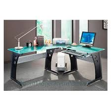 modern glass work desk glass top computer desk modern graphite corner gaming home office