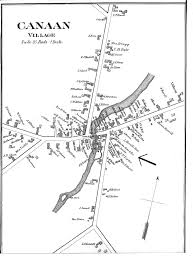 Map Of Canaan Canaan Maine Historical Society History Of Canaan Public Library