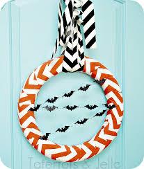 halloween chevron wreath tutorial tatertots and jello