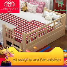 Child Bed Frame Louis Fashion Solid Wood Children Bed Barrier Small Single