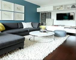 contemporary paint accent wall in living room accent walls blue