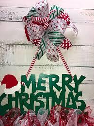Holiday Door Decorating Christmas Door Hanger Christmas Door Décor Holiday Door Hanger